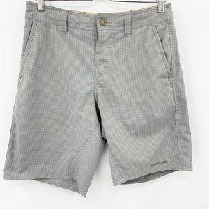 "Patagonia Hybrid Shorts Grey Windowpane 9.5"""